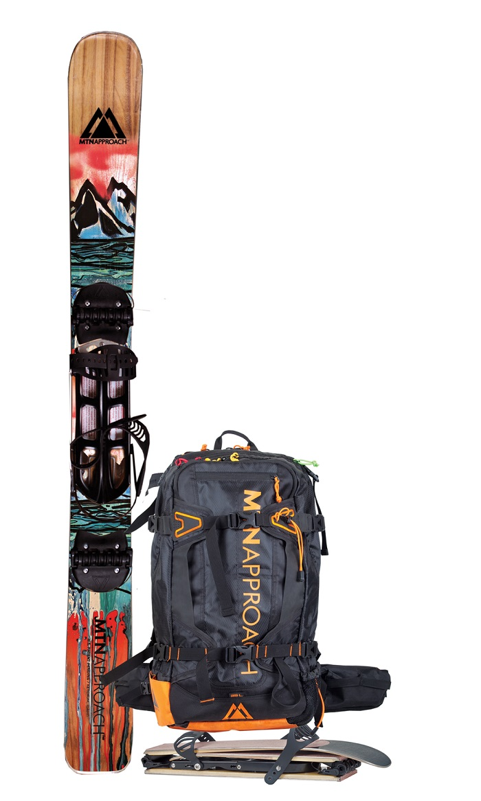 how to carry a snowboard while snowshoeing