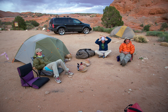 The Sleeping Bag Test Crew In Camp