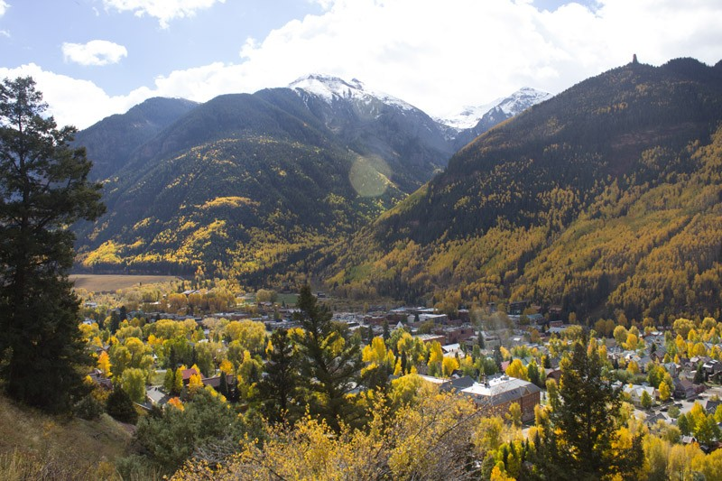 View of Telluride from a hike up the Jud Wiebe trail.