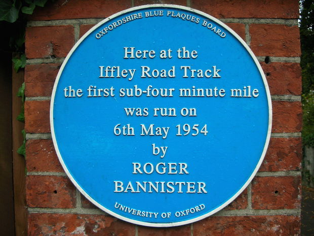 Iffley Road Track Oxford - blue plaque