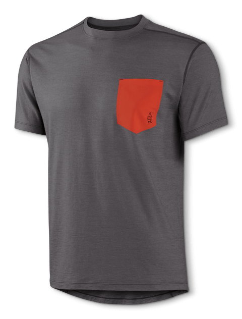 M Merino Lightweight Pocket T Gray 480