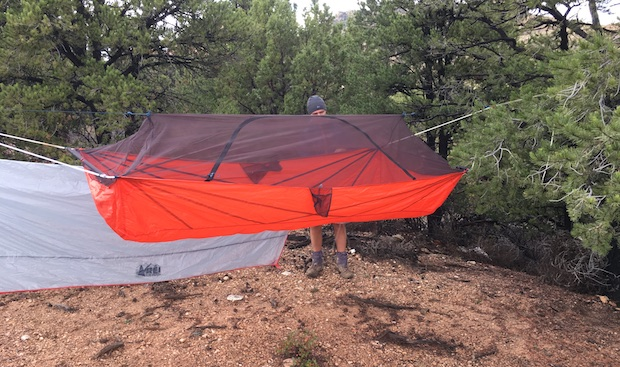 earlier this week rei announced their  u201cquarter dome air hammock u201d a fully enclosed hammock system with a couple of poles for added rigidity  rei bets big with quarter dome air hammock   gear institute  rh   gearinstitute