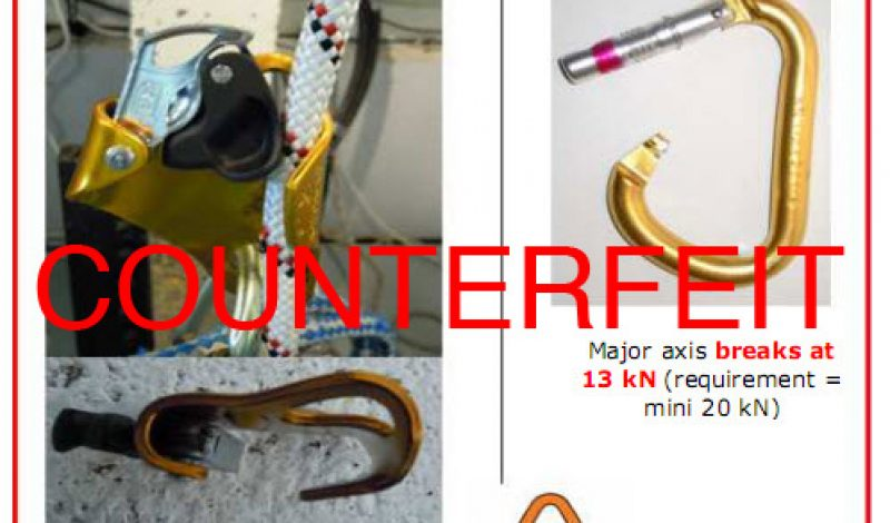 Dangerous Counterfeit Climbing Gear Surfaces