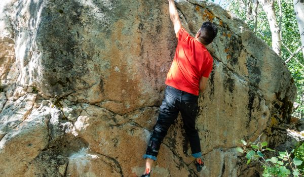 Black Diamond offers denim jeans as core climbing gear