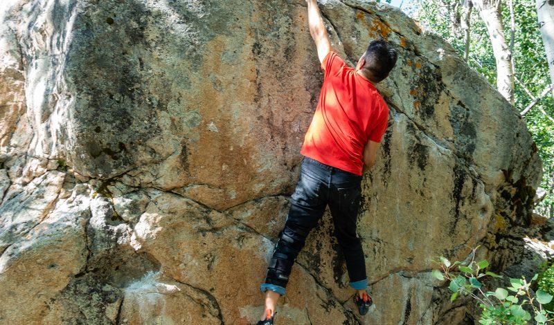 Black Diamond offers denim jeans as core climbing gear