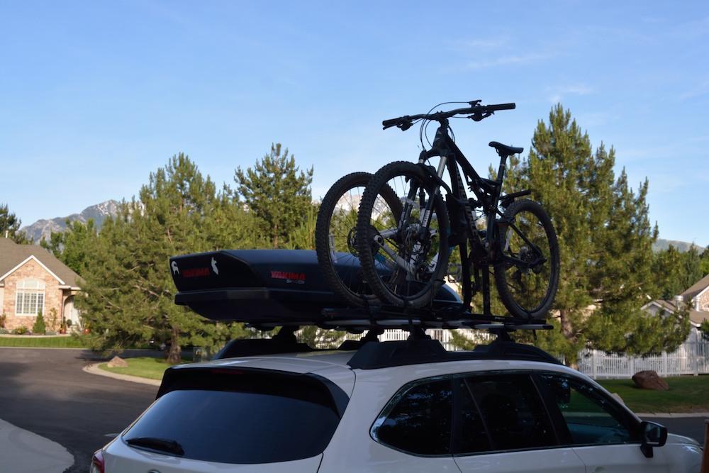 Mountain Bikes Loaded On Yakima HighSpeed And RockyMounts TomaHawk