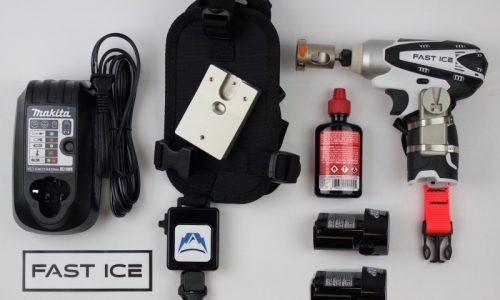 Fast Ice Reviewed: A Power Drill System That Will Change Your Ice Screw Setting Game