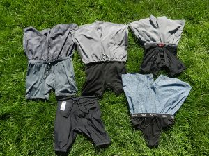 shorts displaying liners on the grass