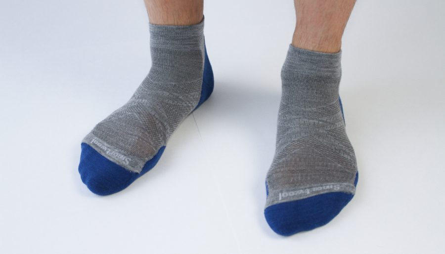 Smartwool PhD Run Light Elite socks on foot