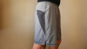 side view of Smartwool 7 inch shorts