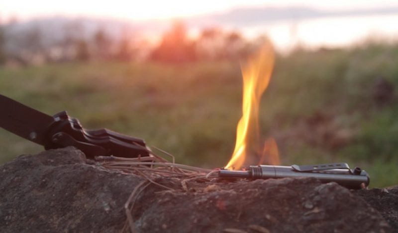 This Titanium Survival Pen Starts Fires, Shoots Flares